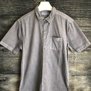 Urban Outfitters Button Down Shirt Grey Small NWT